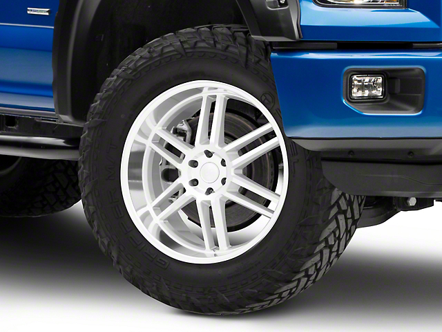 Black Rhino Katavi Silver 6-Lug Wheel - 24x10; 30mm Offset (15-19 F-150)