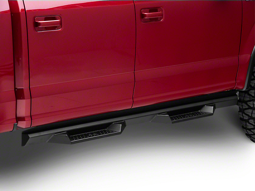 Rough Country Cab Length DS2 Drop Side Step Bars (15-19 F-150 SuperCrew)