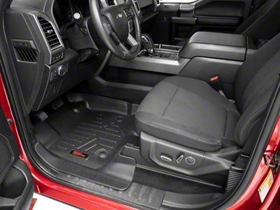 Rough Country Heavy Duty Front & Rear Floor Mats - Black (15-19 F-150 SuperCrew)
