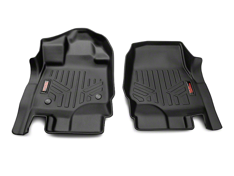 Rough Country Heavy Duty Front Floor Mats - Black (15-19 F-150)
