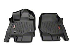Rough Country Heavy Duty Front Floor Mats; Black (15-22 F-150)