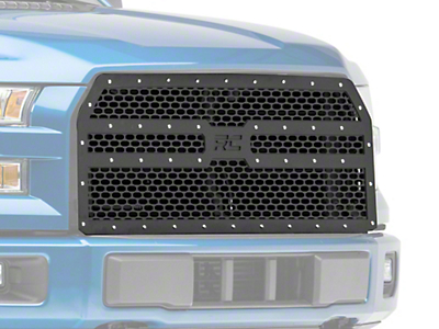 Rough Country Mesh Upper Replacement Grille - Black (15-17 F-150, Excluding Raptor)