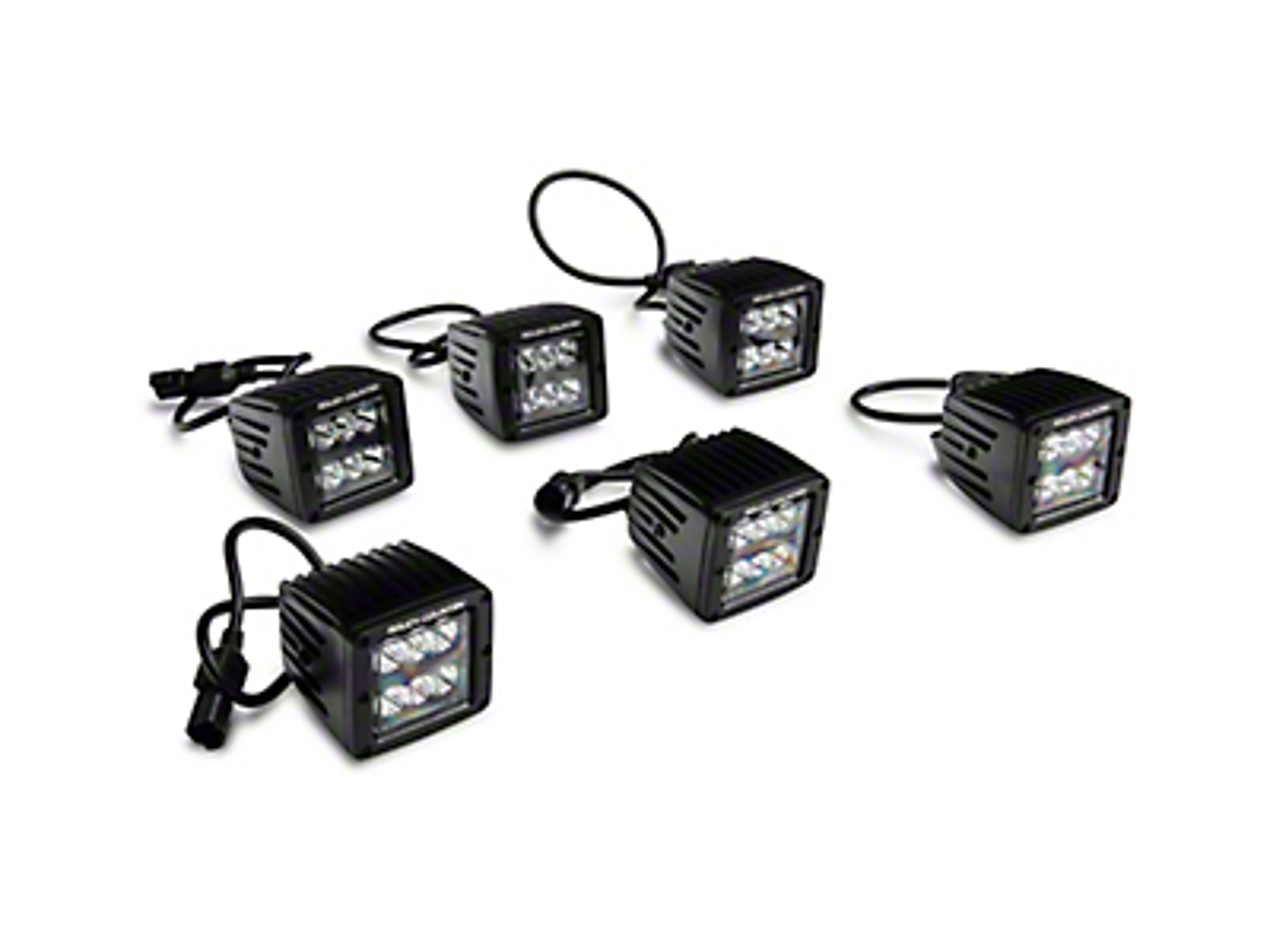 Rough Country Triple LED Fog Light Kit (17-19 F-150 Raptor)