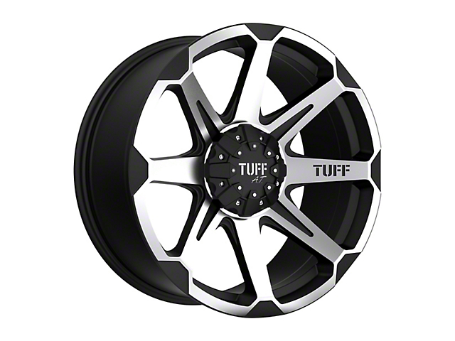 Tuff A.T. T05 Flat Black Machined 5-Lug Wheel - 22x10; 5mm Offset (97-03 F-150)