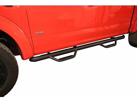 N-Fab Cab Length Nerf Side Step Bars - Textured Black (15-19 F-150 SuperCab)