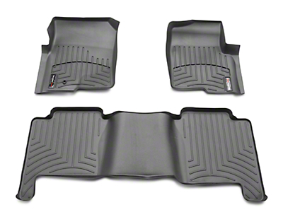 Weathertech DigitalFit Front & Rear Floor Liners - Black (04-08 F-150 SuperCrew)