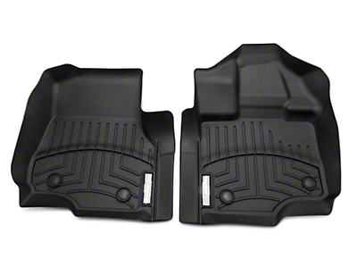 Weathertech DigitalFit Front & Rear Floor Liners - Black (15-19 F-150 SuperCab w/ Vinyl Floors)