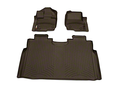 Weathertech DigitalFit Front & Rear Floor Liners - Cocoa (15-19 F-150 SuperCrew)