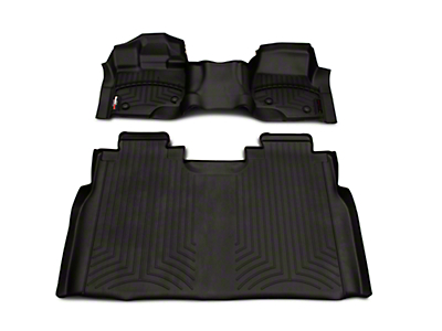 Weathertech DigitalFit Front & Rear Floor Liners - Over The Hump - Black (15-19 F-150 SuperCrew)