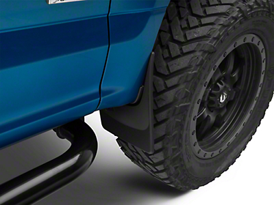 Weathertech Front & Rear No Drill Mudflaps - Black (15-19 F-150, Excluding Raptor)