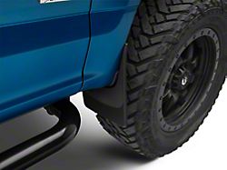 Weathertech No-Drill Mud Flaps; Front and Rear; Black (15-20 F-150, Excluding Raptor, w/o OE Fender Flares)