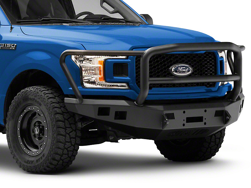 Road Armor Stealth Winch Front Bumper with Lonestar Guard; Satin Black (18-20 F-150, Excluding Raptor)