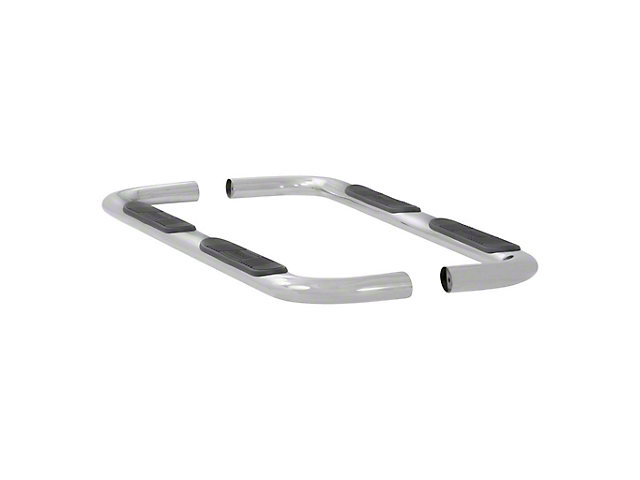 4-Inch Oval Nerf Side Step Bars; Polished Stainless (15-21 F-150 SuperCab)