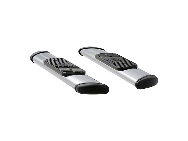Regal 7-Inch Oval Side Step Bars; Polished Stainless (04-14 F-150 Regular Cab)