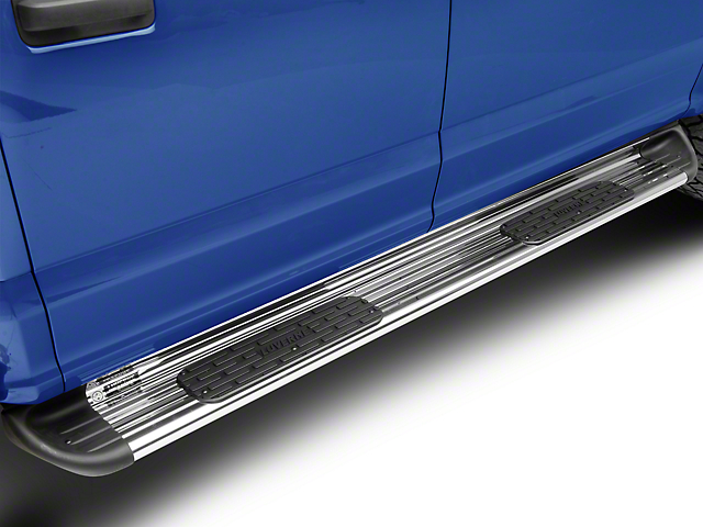 Stainless Side Entry Running Boards; Polished (15-21 F-150 SuperCrew)