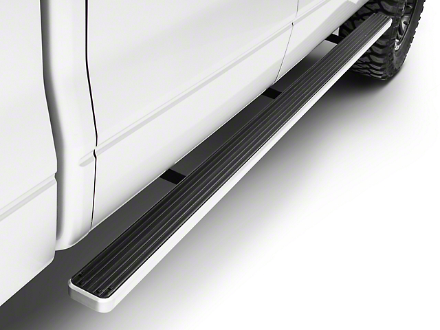4 in. iStep Running Boards - Hairline Silver (09-14 F-150 SuperCrew)