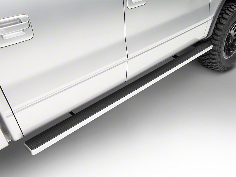 5 in. iStep Running Boards - Hairline Silver (09-14 F-150 SuperCrew)