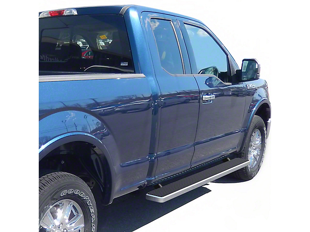 5-Inch iStep Running Boards; Hairline Silver (15-21 F-150 SuperCab)