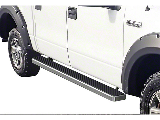 5 in. iStep Running Boards - Hairline Silver (04-08 F-150 SuperCrew)