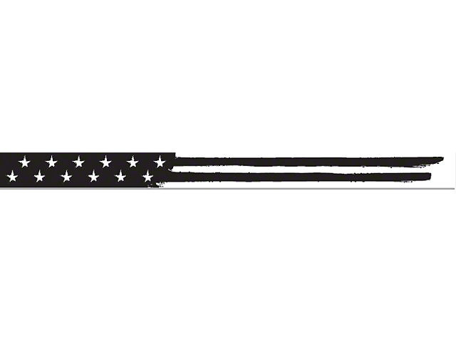AeroX 52 Inch LED Light Bar Cover Insert; Black & White American Flag