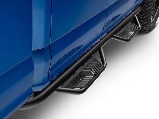 Havoc Offroad HS2 Hoop Side Step Bars; Textured Black (15-21 F-150 SuperCab)