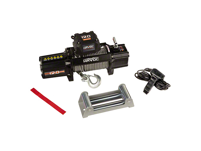 Havoc Offroad 12,000 lb. Winch with Steel Cable