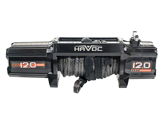 Havoc Offroad 12,000 lb. Winch with Synthetic Rope