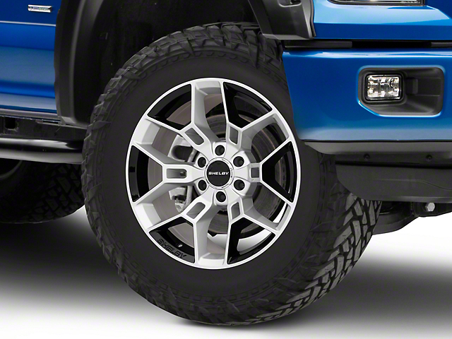 Shelby CS45 Chrome Powder w/ Black Inserts 6-Lug Wheel - 20x9; 12mm Offset (15-19 F-150)