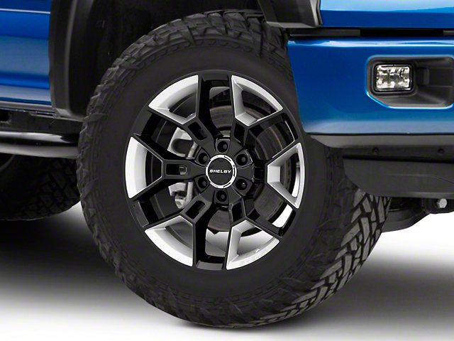 Shelby CS45 Black w/ Hyper Silver Inserts 6-Lug Wheel - 20x9; 12mm Offset (15-19 F-150)
