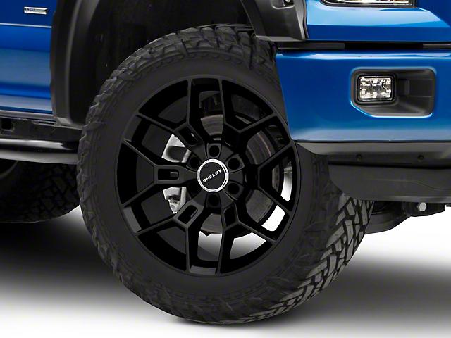 Shelby CS45 Gloss Black 6-Lug Wheel; 22x9.5; 12mm Offset (15-20 F-150)