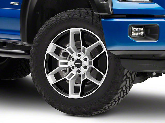 Shelby CS45 Chrome Powder with Black Inserts 6-Lug Wheel; 22x9.5; 12mm Offset (15-20 F-150)