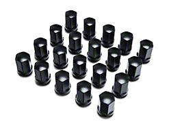 Black Acorn Lug Nut Kit; 14mm x 2.0; Set of 20 (00-03 F-150)