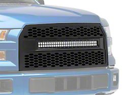 Deegan 38 Upper Replacement Grille with KC 30-Inch Curved LED Light Bar (15-17 F-150, Excluding Raptor)