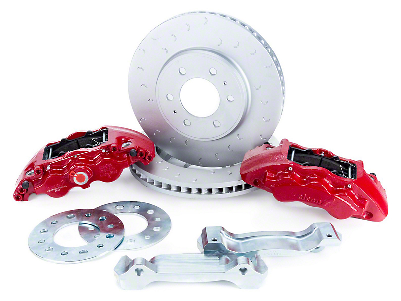 Alcon Military Grade Front Big Brake Kit - Red Calipers (09-20 F-150)