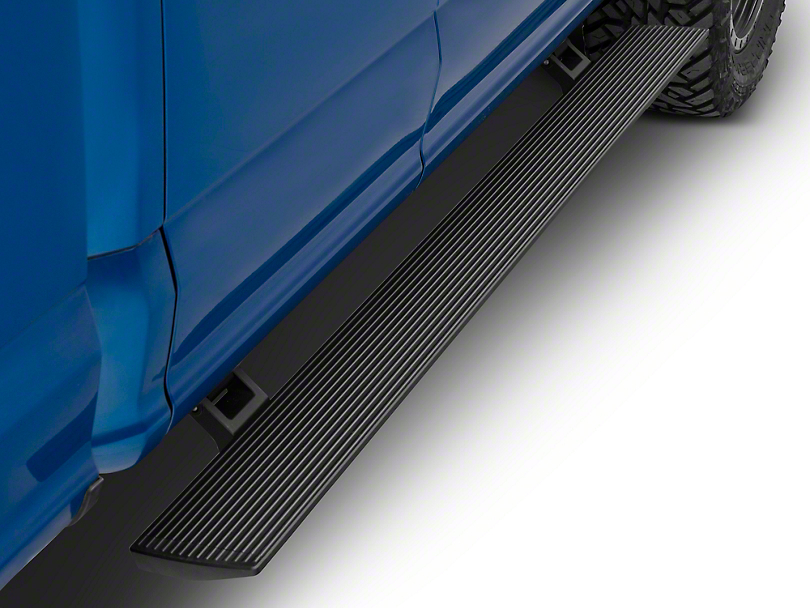 RBP Stealth Power Running Boards - Black (15-19 F-150 SuperCab)