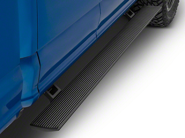 RBP Stealth Power Running Boards; Black (15-20 F-150 SuperCab)