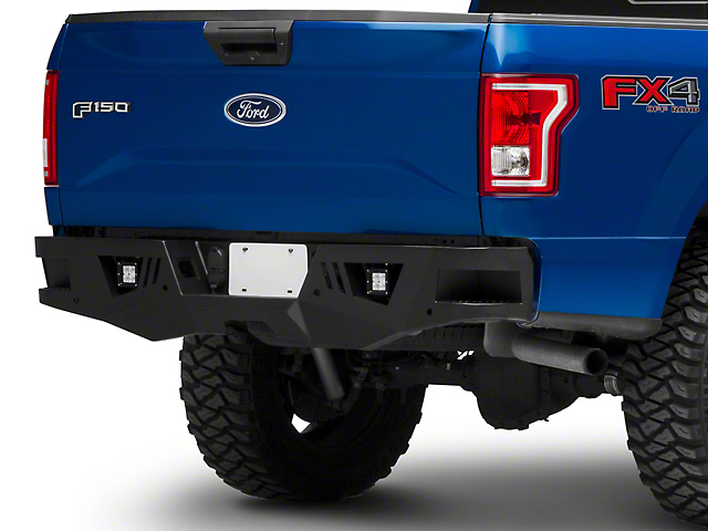Barricade Extreme HD Rear Bumper with LED Fog Lights for Factory Hitches (15-20 F-150, Excluding Raptor)