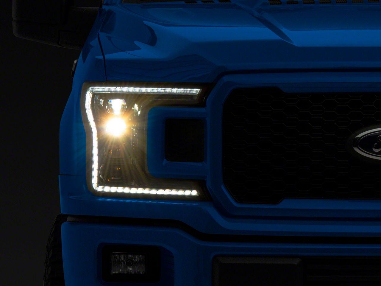 Morimoto XB Projector LED Headlights w/ White Daytime Running Lights (18-19 F-150 w/ Halogen Headlights)
