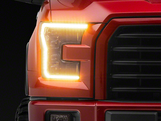 Morimoto XB Projector LED Headlights with Amber Daytime Running Lights (15-17 F-150)