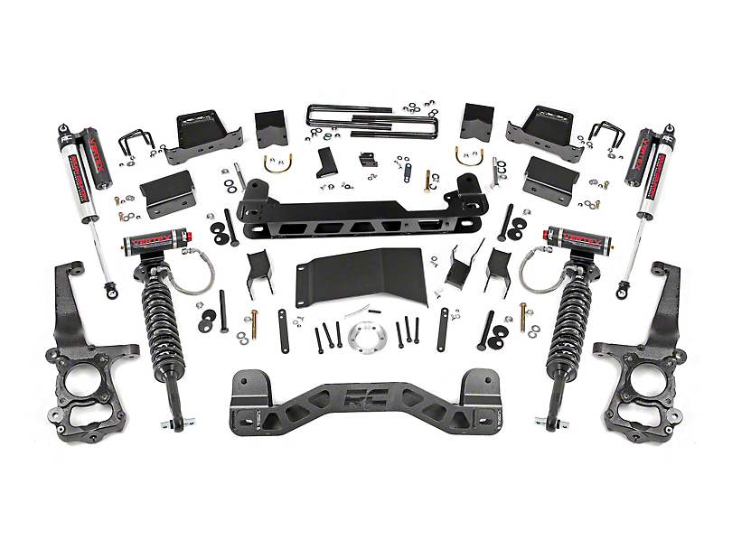 Rough Country 6 in. Suspension Lift Kit w/ Vertex Reservoir Shocks (15-20 4WD F-150 SuperCab, SuperCrew, Excluding Raptor)
