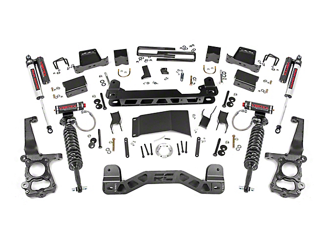 Rough Country 6-Inch Suspension Lift Kit with Vertex Reservoir Shocks (15-20 4WD F-150 SuperCab, SuperCrew, Excluding Raptor)