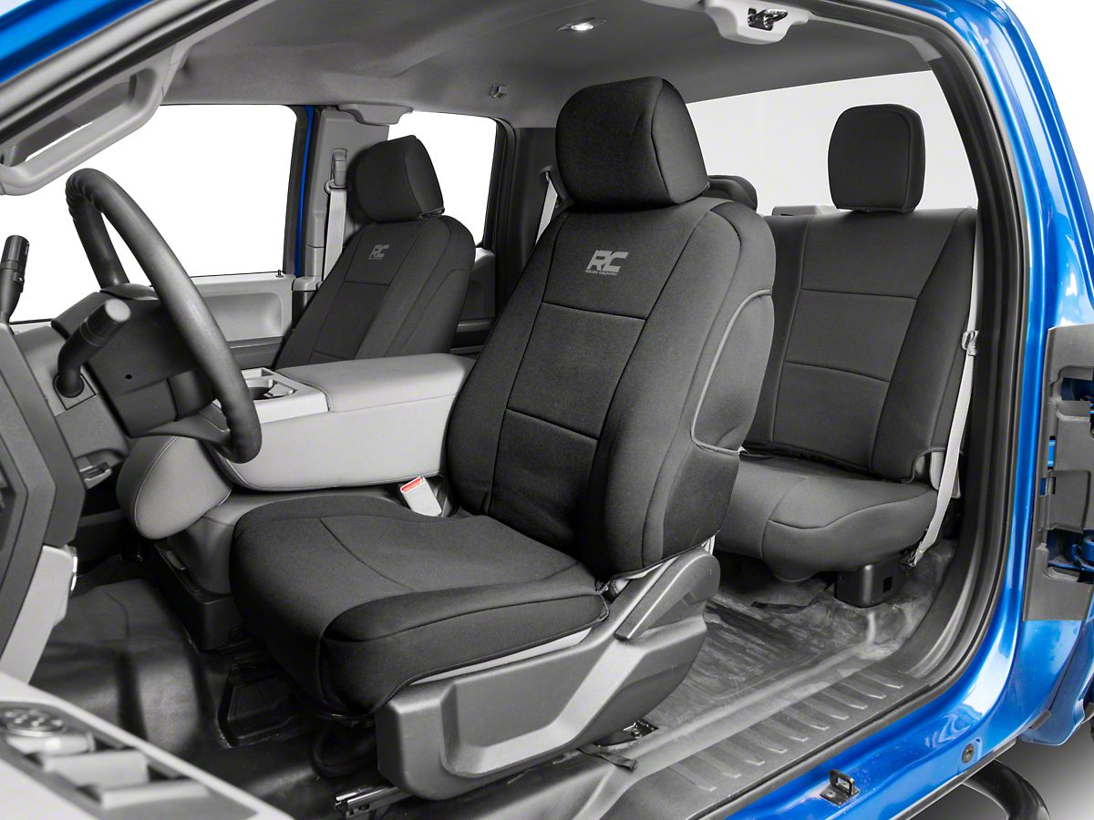Surprising Rough Country Neoprene Front Rear Seat Covers Black 15 20 F 150 Supercab Supercrew Evergreenethics Interior Chair Design Evergreenethicsorg