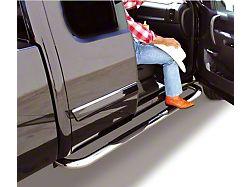 3-Inch 4000 Series Cab Length Side Step Bars; Chrome (15-22 F-150 SuperCab)