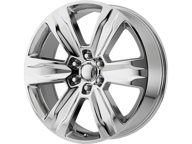 Platinum Style Chrome 6-Lug Wheel; 22x9; 44mm Offset (15-20 F-150)