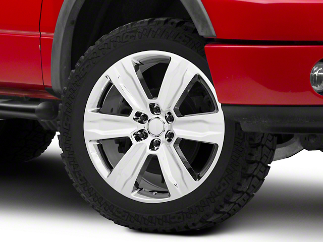 Platinum Style Chrome 6-Lug Wheel; 22x9; 44mm Offset (04-08 F-150)