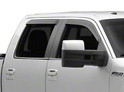RedRock 4x4 Window Deflectors; Front and Rear; Smoked (04-08 F-150 SuperCrew)