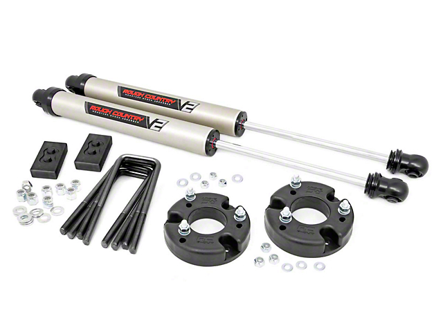 Rough Country 2-Inch Leveling Lift Kit with V2 Monotube Shocks (09-20 2WD/4WD F-150, Excluding Raptor)