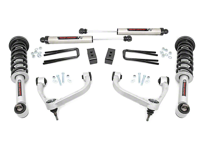 Rough Country 3 in. Bolt-On Suspension Lift Kit w/ V2 Monotube Shocks (14-20 4WD F-150, Excluding Raptor)