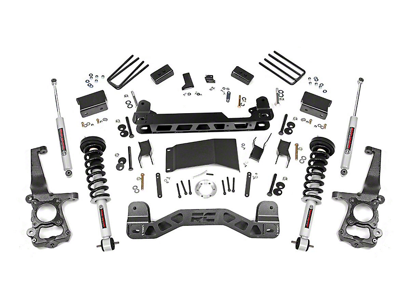 Rough Country 4 in. Suspension Lift Kit w/ Lifted Struts & Premium N3 Shocks (15-20 4WD F-150, Excluding Raptor)