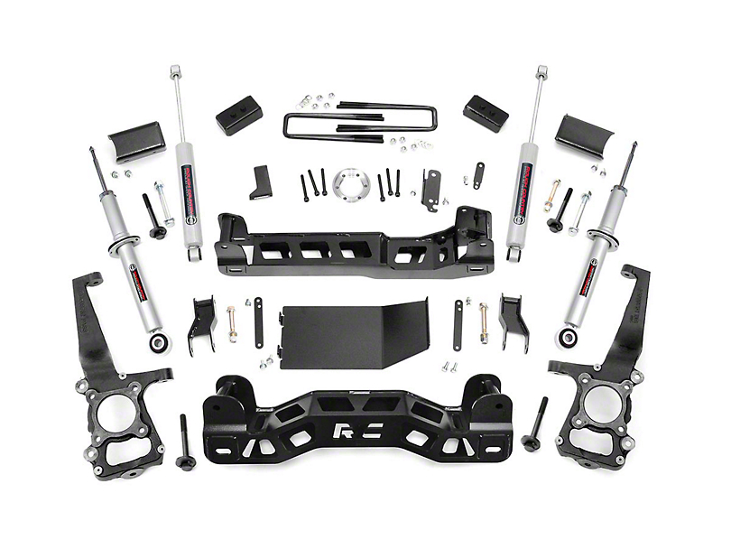 Rough Country 4 in. Suspension Lift Kit w/ Lifted Struts & Premium N3 Shocks (09-10 4WD F-150)